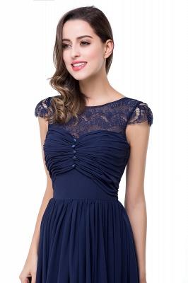 ELLEN   A-line Short Sleeves Chiffon Bridesmaid Dresses with Ribbon Bow_13