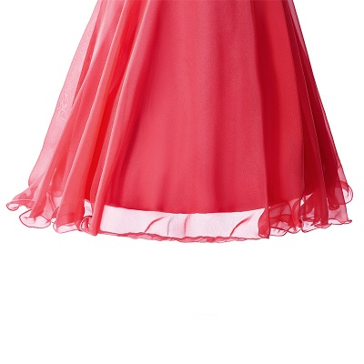 CATALINA | A-line One Shoulder Chiffon Party Dress With  Crystal_8