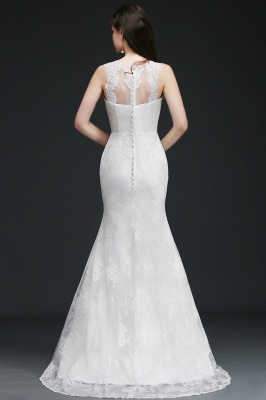 AMELIA   Mermaid Sweep Train Lace New Arrival Wedding Dresses with Buttons_2
