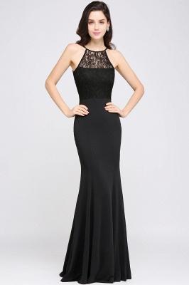 CHERISH   Mermaid Halter Floor-length Chiffon Black Prom Dress_1
