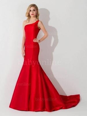 AILEEN | Mermaid One Shoulder Satin Evening Dress_8