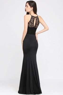 CHERISH   Mermaid Halter Floor-length Chiffon Black Prom Dress_5