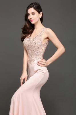 ALLYSON   Sirène v-cou perle rose robes de bal avec des perles_6