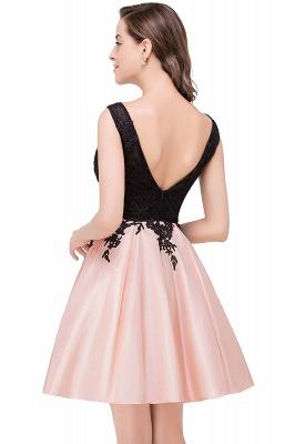 EVA | Apliques de encaje sin mangas una línea vestidos de baile cortos_9
