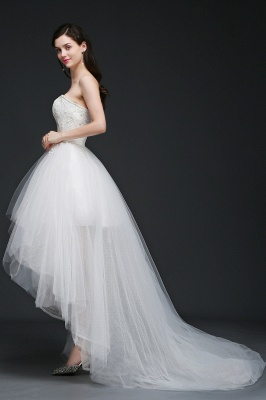 ANNE | A-line Hi-Lo Tulle Wedding Dress With Lace_3
