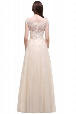 AUBREE | A-line Floor-Length Tulle Prom Dress With Lace Appliques_13