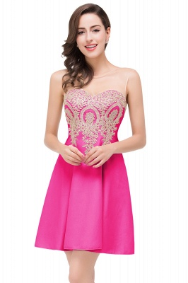 ESTHER | A-line Sleeveless Chiffon Short Prom Dresses with Appliques_2