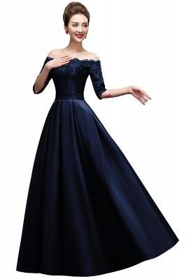 Une ligne de demoiselle d'épaule à l'épaule lacets appliques robes de soirée_3