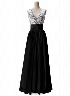 AISLINN | A-line V-neck Chiffon Party Dress With  Sequined_4