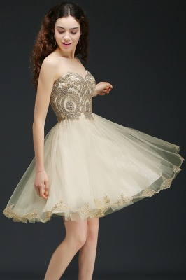 Applique Homecoming Dress