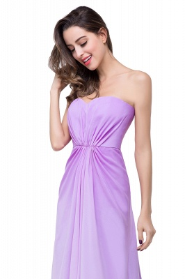 ADRIENNE | A-line Strapless Chiffon Bridesmaid Dress_10