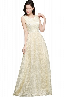 AYA | A-line Scoop Floor Length Evening Dress With Lace_4
