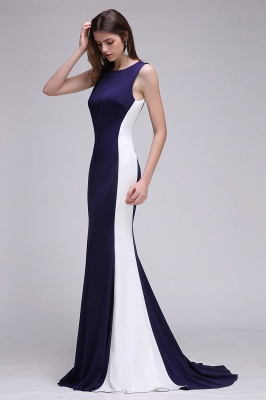 CAMILA | Mermaid Long Dark Navy Simple Prom Gowns_5