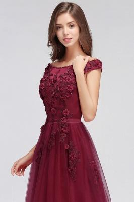 EMBER | A-line Off-shoulder Floor-length Tulle Appliques Prom Dresses_8