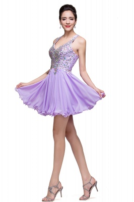 crystal short prom dresses