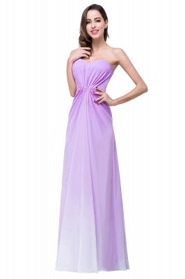 ADRIENNE | A-line Strapless Chiffon Bridesmaid Dress_8