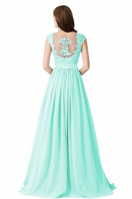 ADA | A-line V Neck Chiffon Bridesmaid Dress with Appliques_13