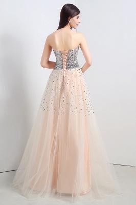 CECELIA   A-ligne bretelles robe de soirée en tulle avec paillettes_2