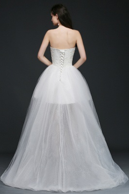 ANNE | A-line Hi-Lo Tulle Wedding Dress With Lace_2