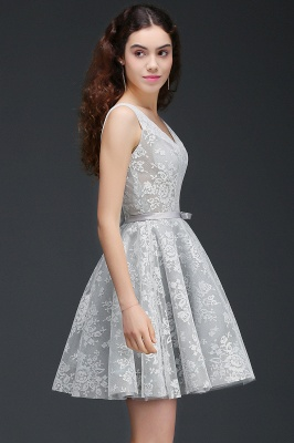 ALEAH   A Line Strtaps Lace Cocktail Homecoming Dresses With Sash_4