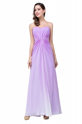 ADRIENNE | A-line Strapless Chiffon Bridesmaid Dress_9