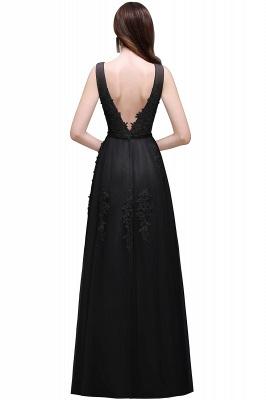 ADDYSON | Uma linha do assoalho-comprimento vestido de dama de tule com apliques_8