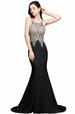 AVERIE   Mermaid Scoop en mousseline de soie élégante robe de bal avec des appliques_2