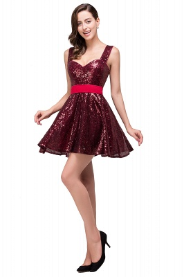 CHANA | A-line Sweetheart sequins  Prom Dress_6