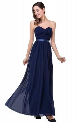 Elegantes A-Linie Chiffon Brautjungfer Kleid | Schulterfrei Brautjungfernkleider Bodenlang_11