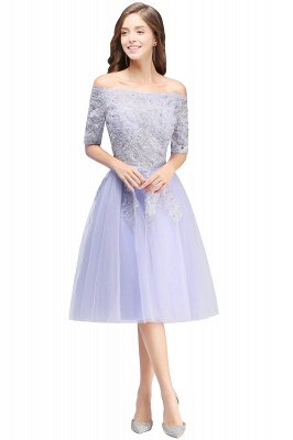 ADILYNN | A-line Bateau Tulle Prom Dress with Appliques_7
