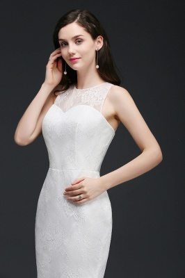 AMELIA   Mermaid Sweep Train Lace New Arrival Wedding Dresses with Buttons_5