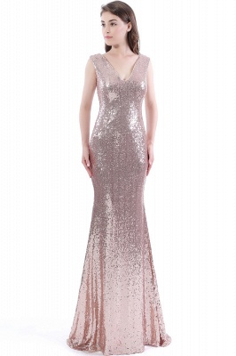 DAKOTA | Mermaid Floor Length V-Neck Long Sequins Prom Dresses_1
