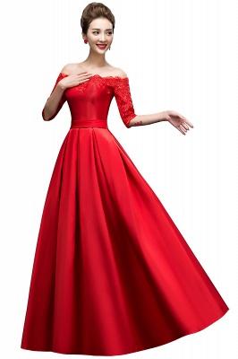 Une ligne de demoiselle d'épaule à l'épaule lacets appliques robes de soirée_2