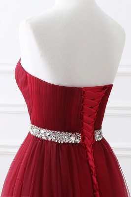 ANGELINA | A-line Sweetheart Burgundy Tulle Prom Dress With Beading_13