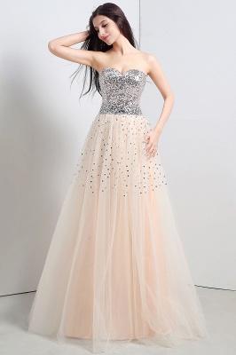 CECELIA   A-ligne bretelles robe de soirée en tulle avec paillettes_5