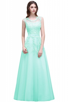 ADDILYN | A-line Floor-length Tulle Prom Dress with Appliques_9