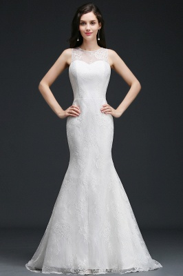 AMELIA   Mermaid Sweep Train Lace New Arrival Wedding Dresses with Buttons_1