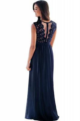 EMELY | Sheath Crew Sleeveless Floor-length Lace Top Chiffon Bridesmaid Dresses_14