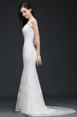 AMELIA   Mermaid Sweep Train Lace New Arrival Wedding Dresses with Buttons_4