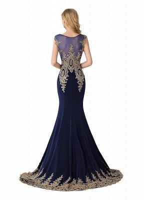 ABIGAIL   Mermaid Court Train Chiffon Evening Dress with Appliques_4