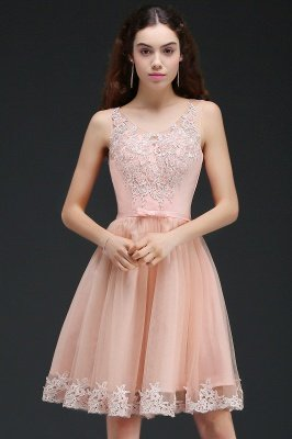 ANIYAH | A-ligne courte robe de retour mignon avec dentelle_4