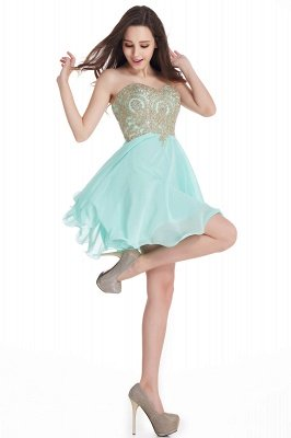 CYNTHIA | A-Line Strapless Short Chiffon Prom Dresses with Beadings_13