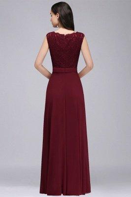 CORINNE | A-Linie bodenlange Spitze Burgund elegantes Abendkleid_8