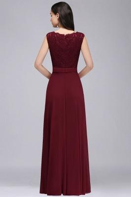 CORINNE | A-line Floor-length Lace Burgundy Elegant Prom Dress_7