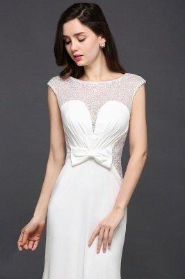AYLEEN | Mermaid Scoop White Chiffon Evening Dress With Beadings_5
