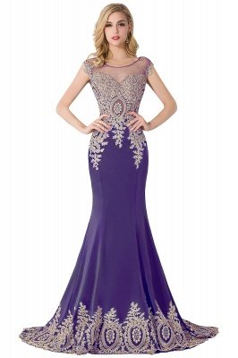 ABIGAIL   Mermaid Court Train Chiffon Evening Dress with Appliques_2