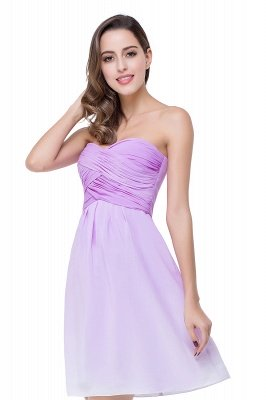 ADLEY | A-line Strapless Chiffon Bridesmaid Dress with Draped_6