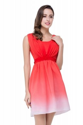 ADRIANA   A-line Jewel Red Bridesmaid Dress_5