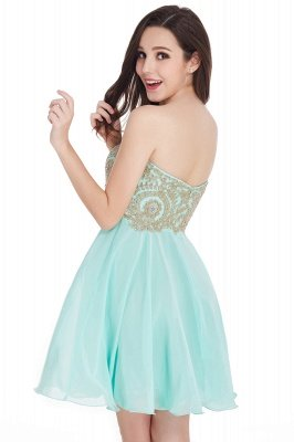 CYNTHIA | A-Line Strapless Short Chiffon Prom Dresses with Beadings_11