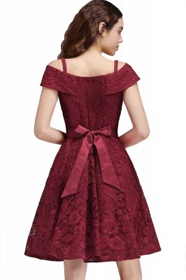 BRISTOL | A-Line Spaghetti Straps Short Lace Burgundy Homecoming Dresses_3